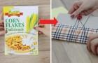 Comment obtenir un cahier super sympa en recyclant une boîte de céréales