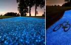 Ein Fahrradweg der nachts leuchtet...und sich im Sonnenlicht auflädt!