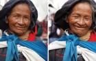 Viaggia per 2 anni dicendo alle donne che sono belle: ecco le loro espressioni prima e dopo