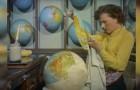 En 1955 los mapamundi eran creados asi: simplemente fascinante!