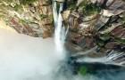 Ativa um drone e filma de cima as cascatas mais altas do mundo. Espetáculo puro!