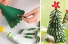 8 ideas para realizar los arboles de Navidad con materiales inesperados