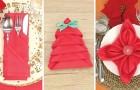 3 hübsche Falt-Ideen für Servietten, die eure Weihnachts-Tafel mit Sicherheit aufwerten werden!