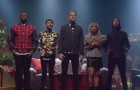 A capella group Pentatonix sings