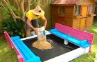 A wonderful DIY sand pit seat project! Check it out!