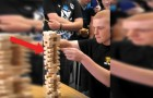 Insane Jenga trick! WoW!