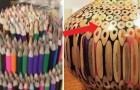 Une oeuvre d'art à partir de crayons de couleurs: ce qu'il crée est superbe!