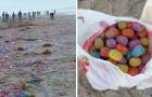 Un tifone investe una nave da carico: un'intera isola si sveglia ricoperta di ovetti di plastica