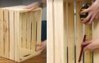 De caixa de madeira a móvel para a sala: poucos passos para ter um objeto útil e belo!