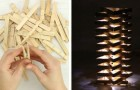 Make your own unique and impressive clothespin lamp!