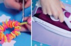 Algunos trucos para transformar las pajitas de plastico en creaciones bellisimas y coloridas