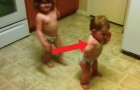 Two Toddlers Have Fun getting down! Watch this! :)