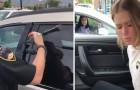Une fille s'endort dans la voiture: sa mère est obligée d'appeler la police pour la réveiller