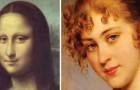 500 Jahre weibliches Porträt werden zu einer einzigen Frau, die sich bewegt und uns ansieht