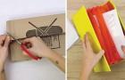 Impara come realizzare un portadocumenti fai-da-te a partire da un pezzo di cartone