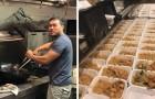 Ils cuisinent plus de 1000 repas pour les victimes de l'ouragan mais personne n'en parle : un simple message va tout changer.
