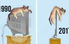 Ecco come è cambiata la vita dei gatti con l'arrivo della tecnologia