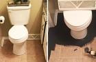 Da sie genervt von ihrem Bad ist, beginnt sie es mit schwarzer Farbe zu überstreichen: das Endergebnis ist umwerfend!