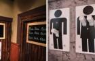 La differenza fra uomo e donna? Questi cartelli dei bagni la spiegano in modo originale!