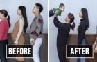 I membri di una famiglia cinese appaiono irriconoscibili dopo 6 mesi di duro allenamento