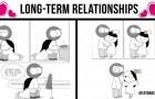 Ces bandes dessinées illustrent les aspects les plus romantiques et amusants des relations de longue durée