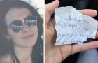 Sie lud einen Obdachlosen zum Essen ein: Als er geht, hinterlässt er ihr eine unerwartete Nachricht