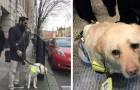 Een blinde man is in tranen wanneer NIEMAND hem een plaats gereserveerd voor gehandicapten afstaat