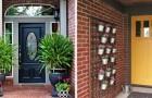 17 skapelser av blommor att sätta vid ingången till huset för att välkomna gästerna på det trevligaste sättet