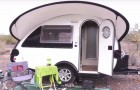 A woman has decided to live in this tiny camper trailer --- and that's all she needs!