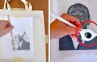 Transférez vos dessins préférés sur le tissu avec une méthode simple faite maison.