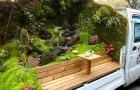 In Giappone esiste una gara per il miglior giardino ricavato su un camion: le creazioni sono una meraviglia!