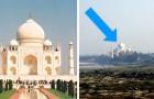 10 luoghi famosissimi visti da una prospettiva diversa... Che non vi sareste mai immaginati
