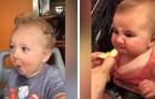 Kinderen die voor de eerste keer iets zuurs eten: hun reacties zijn leuk