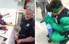 No seu tempo livre este policial se veste de super-herói e visita as crianças doentes no hospital