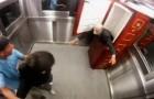 Ein Scherz zum Totlachen... im Aufzug