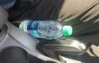 Os bombeiros dizem para não deixar as garrafas de plástico no carro