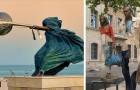 18 niet zo bekende standbeelden die de regels van de zwaartekracht hebben getart en overtreden