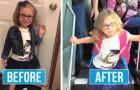 Les enfants photographiés avant / après le premier jour d'école : leurs expressions n'ont pas besoin de commentaire