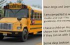 L'autista dello scuolabus invia una