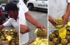 Quanto ci mettete a sbucciare perfettamente un'ananas?
