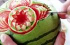 Nooit verwacht dat een watermeloen zo mooi kon zijn