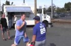 This guy asks people to hit him... but he's incredibly fast !