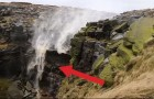 Incredible waterfall blown back by strong winds: here's the curious video from the UK!