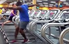 This man will show you how to have fun in the gym !!