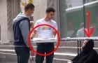 Regala a un senzatetto della pizza, quello che fa lui dopo è davvero inaspettato