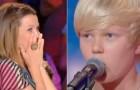El jurado es sorprendido de la eleccion del tema musical, pero apenas abre la boca se RELAJA!