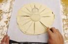 Un uomo fa 16 tagli sulla pasta sfoglia: il risultato è squisito e... Bellissimo!