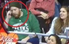 A man ignores his girlfriend and the kiss cam: no one expected this was going to happen!