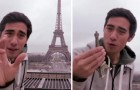 Schaut mal, was dieser Junge mit dem Eiffelturm macht. Sein Talent ist echt genial!