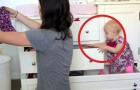 Mom tries to get the housework done, but what is happening around her is hilarious!